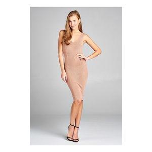 Sleeveless V-Neck Dress.